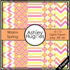 Warm Spring {12x12 Digital Papers for Commercial Use}