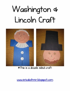 Washington and Lincoln Double Sided Craft