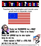 Washington and Lincoln -Primary Reading & Cloze Worksheets