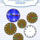 Watch faces {every 15 minutes} + Time practice worksheet
