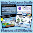 Water Cycle PowerPoint, Built-in quiz, activities, more (2
