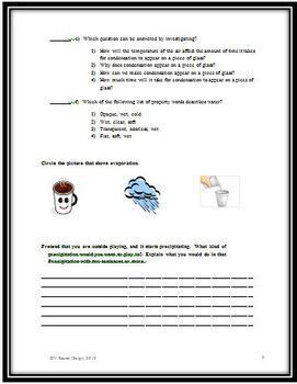 Water Cycle Science Test
