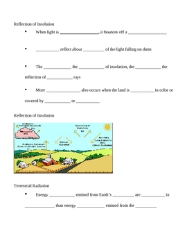 Water Cycle and Climates Notes Outline Lesson Plan
