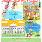 Watercolor Art Projects for Grades 4-6