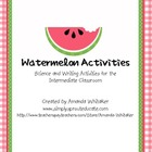 Watermelon Activities - Science and Writing for the Interm