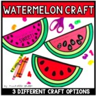 Watermelon: Language Arts and Math Craftivity