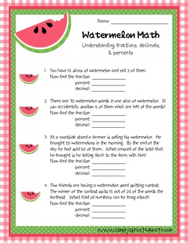 Watermelon Math