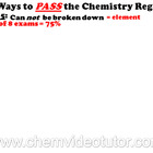 Way # 5 on How to PASS the Chemistry Regents