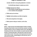 Ways to Annotate a Text - Handout Guide with Sample Paragraph
