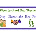 Ways to Greet Your Teacher classroom sign