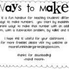 Ways to Make...