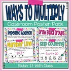 Ways to Multiply (strategy posters)