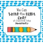 We Can Write the Right One! A Book Using Homophones