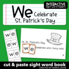 """We Celebrate St. Patrick's Day"" Interactive Sight Word Reader"