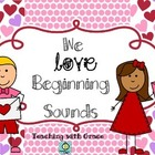 We Love Beginning Sounds: Valentine's Day word sort