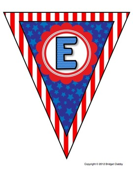 We Love Fifth Grade Banner or Bunting - Patriotic Colors