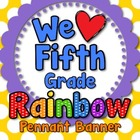 &#039;We Love Fifth Grade&#039; Banner or Bunting
