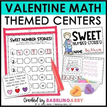 We Love Math! {Math Center Activities for February}