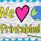 We Love Our Earth Printables! {Earth Day Resources}