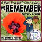 We Remember - a Mini Unit for Vetran&#039;s Day