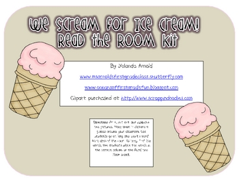 We Scream for Ice Cream Sentence and Word Combo Kit