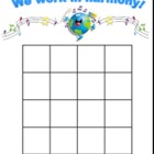 We Work in Harmony - Behavioral Sticker Chart