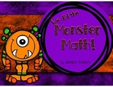 We did the Monster Math!  10 Monster Math Centers