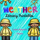 Weather Activity Pack for Literacy and Centers- PreKinder-First
