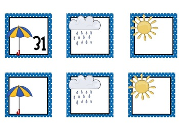 Weather Calendar Pieces- Perfect for April