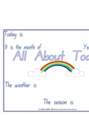 Weather Chart - all about today - 5 pages
