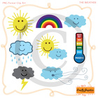 Weather Clip Art - For Personal and Classroom Use