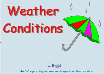 Weather Conditions - Smartboard Lesson