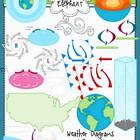 Weather Diagrams and Forecasting Clip Art