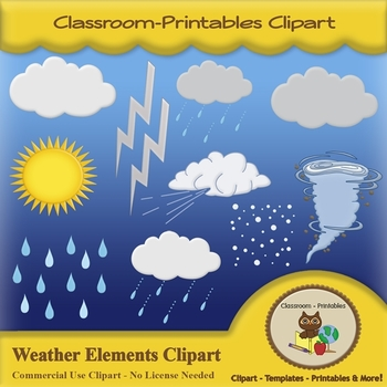 Weather Elements Clipart Set