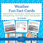Weather Fact Cards - Fun Unit Extension Activity, Bulletin
