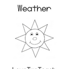 Weather:  Literacy and Math Center Fun