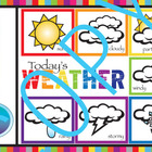 Weather Poster, wall hanging and/or activity center (elementary)