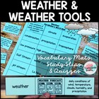 Weather Vocabulary Match up Mat--definition study strategy
