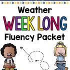 Weather Weeklong Fluency Packet