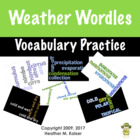 Weather Wordles Vocabulary Concept Builders
