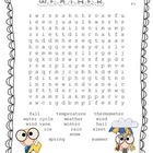 Weather Words- Word Search