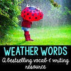 Weather Words, Worksheets and Fun! {in English and Spanish}
