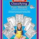 Webber Classifying Fun Sheets