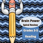 Week 1-6 Spiral Homework for Reading Grades 3-5
