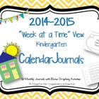 """Week at a Time"" Calendar Journals for 2014-2015"