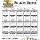 Weekly Behavior Report for Parents