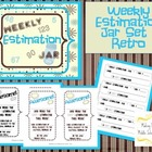 Weekly Estimation Jar Set ~ Retro Cream, Brown & Blue