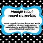 Weekly Focus Board- Black and White Polka Dot