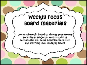 Weekly Focus Board- Pink Cocoa