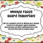 Weekly Focus Board- Scrappy Red